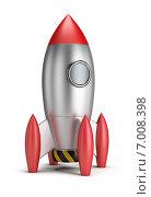 Купить «3d-ракета на белом фоне», иллюстрация № 7008398 (c) Anatoly Maslennikov / Фотобанк Лори
