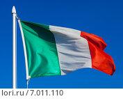 Купить «Flag of Italy in flight», фото № 7011110, снято 13 августа 2014 г. (c) Яков Филимонов / Фотобанк Лори