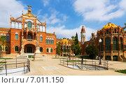 Купить «Hospital de la Santa Creu i Sant Pau in Barcelona», фото № 7011150, снято 13 сентября 2014 г. (c) Яков Филимонов / Фотобанк Лори