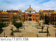 Купить «Hospital de la Santa Creu i Sant Pau in Barcelona», фото № 7011158, снято 13 сентября 2014 г. (c) Яков Филимонов / Фотобанк Лори