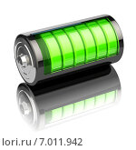 Купить «Battery charge level indicators isolated on white. Charging.», фото № 7011942, снято 22 сентября 2018 г. (c) Maksym Yemelyanov / Фотобанк Лори