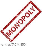Monopoly - штамп. Стоковая иллюстрация, иллюстратор Иван Рябоконь / Фотобанк Лори