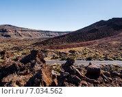 Купить «Лунный пейзаж национального парка Тейде. Тенерифе. Канарские острова, Испания», фото № 7034562, снято 17 декабря 2014 г. (c) Alexander Tihonovs / Фотобанк Лори