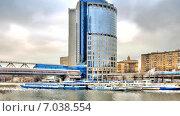 Купить «Башня 2000 и мост Багратион», видеоролик № 7038554, снято 15 октября 2019 г. (c) Parmenov Pavel / Фотобанк Лори