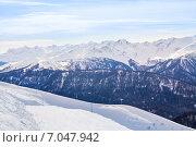 Купить «Кавказские горы зимой, Сочи», фото № 7047942, снято 19 января 2015 г. (c) Сергей Новиков / Фотобанк Лори