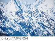 Купить «Кавказские горы, красивый зимний пейзаж», фото № 7048054, снято 21 января 2015 г. (c) Сергей Новиков / Фотобанк Лори