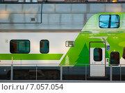 Поезда на Центральном вокзале Хельсинки, Финляндия (2010 год). Стоковое фото, фотограф Roman Vukolov / Фотобанк Лори
