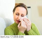 Купить «Woman wiping tears», фото № 7059034, снято 12 июля 2020 г. (c) Яков Филимонов / Фотобанк Лори