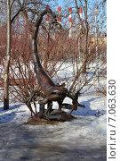 Купить «Скульптура из металлолома в сквере Знаки зодиака на Енисейской улице в Москве», эксклюзивное фото № 7063630, снято 25 февраля 2015 г. (c) lana1501 / Фотобанк Лори