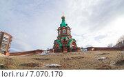 Храм Святого великомученика Феодора Тирона, таймлапс. Стоковое видео, видеограф Леван Каджая / Фотобанк Лори