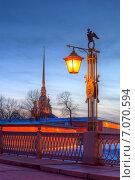 Санкт-Петербург. Фонарь Иоанновского моста (2015 год). Стоковое фото, фотограф Литвяк Игорь / Фотобанк Лори