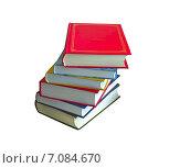 Стопка книг на изолированном фоне. Стоковое фото, фотограф Валентина Троль / Фотобанк Лори