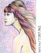 Инопланетная. Стоковая иллюстрация, иллюстратор Лия Ерхонина / Фотобанк Лори