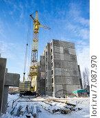 Купить «Кран на стройплощадке», фото № 7087970, снято 4 марта 2015 г. (c) Алексей Маринченко / Фотобанк Лори