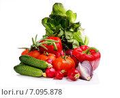 Свежие овощи на белом фоне. Стоковое фото, фотограф Андрей Оршак / Фотобанк Лори