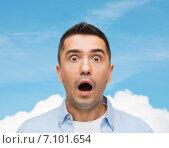 Купить «scared man shouting», фото № 7101654, снято 3 февраля 2015 г. (c) Syda Productions / Фотобанк Лори