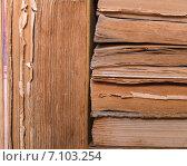 Стопка книг крупным планом. Стоковое фото, фотограф Marina Kutukova / Фотобанк Лори
