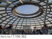 Купить «Открытая крыша Рейхстага, Берлин, Германия», фото № 7106382, снято 5 октября 2014 г. (c) Анастасия Улитко / Фотобанк Лори