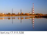 Купить «Волгодонск. ТЭЦ-2 на берегу залива», фото № 7111538, снято 14 октября 2014 г. (c) A Челмодеев / Фотобанк Лори