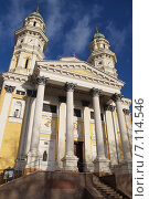 Купить «Греко-католический Крестовоздвиженский собор в Ужгороде, Украина», фото № 7114546, снято 5 января 2015 г. (c) Гордина Алёна / Фотобанк Лори