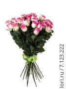 Большой букет из розовых роз. Стоковое фото, фотограф Андрей Новосёлов / Фотобанк Лори