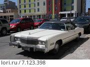 Ретромобиль Cadillac eldorado (2014 год). Редакционное фото, фотограф Алексей Мальцев / Фотобанк Лори
