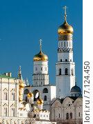 Купить «Церкви в Московском Кремле», эксклюзивное фото № 7124450, снято 14 марта 2015 г. (c) Алексей Бок / Фотобанк Лори
