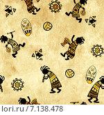 Купить «Seamless background with african national patterns», фото № 7138478, снято 20 июня 2019 г. (c) Лукиянова Наталья / Фотобанк Лори