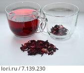 Чай красный каркаде. Стоковое фото, фотограф Юлия Москаленко / Фотобанк Лори