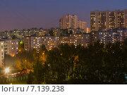 Москва ночью (2014 год). Стоковое фото, фотограф Моргулян Михаил / Фотобанк Лори