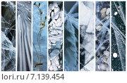 Купить «Байкал. Коллаж из разных видов льда», фото № 7139454, снято 19 января 2020 г. (c) Виктория Катьянова / Фотобанк Лори