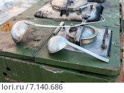 Приготовление еды на армейской полевой кухне в походных условиях. Стоковое фото, фотограф FotograFF / Фотобанк Лори
