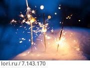 Бенгальские огни. Стоковое фото, фотограф Марина Денисова / Фотобанк Лори