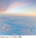 Купить «Вид сверху на тундру зимой», фото № 7143786, снято 23 января 2015 г. (c) Владимир Мельников / Фотобанк Лори
