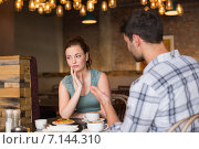 Купить «Young couple having an argument», фото № 7144310, снято 8 сентября 2014 г. (c) Wavebreak Media / Фотобанк Лори