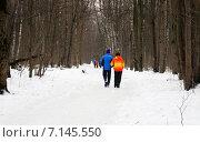 Купить «Прогулка в зимнем лесу», эксклюзивное фото № 7145550, снято 9 марта 2015 г. (c) Щеголева Ольга / Фотобанк Лори