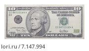 Купить «Десять долларов США», фото № 7147994, снято 25 июня 2018 г. (c) Некрасов Андрей / Фотобанк Лори