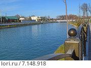 Купить «Голубая река  на фоне неба», фото № 7148918, снято 16 декабря 2014 г. (c) Рамиль Усманов / Фотобанк Лори