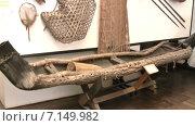 Музейные экспонаты на выставке в зале Национального музея в Танзании. Город Dar es Salaam, Африка (2014 год). Редакционное видео, видеограф Кекяляйнен Андрей / Фотобанк Лори