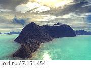 Купить «Чужая планета. Скалы и небо», иллюстрация № 7151454 (c) Parmenov Pavel / Фотобанк Лори