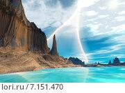 Купить «Чужая планета. Скалы и небо», иллюстрация № 7151470 (c) Parmenov Pavel / Фотобанк Лори