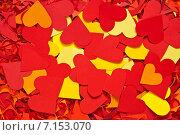Купить «День Валентина бумажные сердца», фото № 7153070, снято 8 февраля 2015 г. (c) Влад  Плотников / Фотобанк Лори