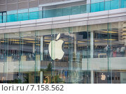 Hong Kong - AUGUST 1, 2014: Hong Kong Apple Store on August 1 in. Редакционное фото, фотограф Elnur / Фотобанк Лори