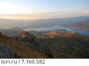 Купить «Река в горах Узбекистана на рассвете», фото № 7160582, снято 1 сентября 2007 г. (c) Elizaveta Kharicheva / Фотобанк Лори
