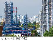 Купить «Московский нефтеперерабатывающий завод в Капотне, Россия», фото № 7168442, снято 14 июля 2014 г. (c) Юрий Губин / Фотобанк Лори