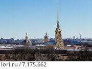 Купить «Санкт-Петербург. Вид на Петропавловскую крепость с крыши», фото № 7175662, снято 26 марта 2015 г. (c) Димка Григорьев / Фотобанк Лори