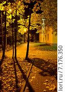 Ночной осенний двор. Стоковое фото, фотограф Ильгиз Хабибулин / Фотобанк Лори