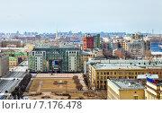 Панорама Санкт-Петербурга. Вид со звонницы Смольного собора (2015 год). Редакционное фото, фотограф Анна Сапрыкина / Фотобанк Лори