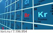 Периодическая таблица химических элементов. Стоковая анимация, видеограф Sanda Stanca / Фотобанк Лори