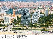 Aerial view of Barcelona. Sant Marti Neighbourhood district (2014 год). Стоковое фото, фотограф Яков Филимонов / Фотобанк Лори
